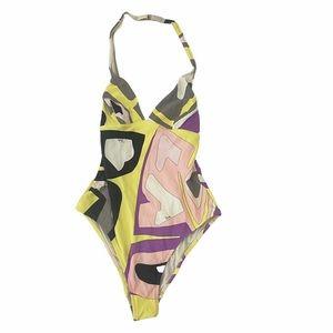 Emilio Pucci Vintage One Piece Swimsuit Size 44